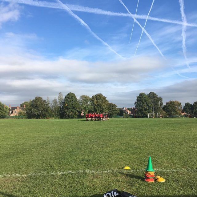 A beautiful day for training under 13s rugby altrincham