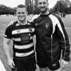 @chrismayor13 & #guvnor celebrating post match win over @otleyrugby today in a tense affair in #monsoon conditions #nat2north #salefc #heywoodrd